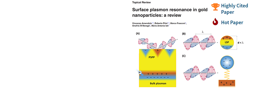 """<b> Topical Review on plasmonics becomes """"hot paper"""" on ISI WoS"""
